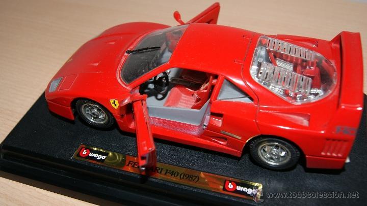 Coches a escala: Lote Coches Mercedes-Benz SSK 1928 / Ferrari F40 1987 / Ferrari 250 LM Monza 1966 - Burago - Foto 14 - 41436932