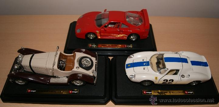 Coches a escala: Lote Coches Mercedes-Benz SSK 1928 / Ferrari F40 1987 / Ferrari 250 LM Monza 1966 - Burago - Foto 18 - 41436932