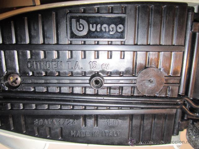 Coches a escala: Citroen TA 15 CV, metálico, de Burago. Escala 1/24. Le falta un faro. - Foto 6 - 43384762