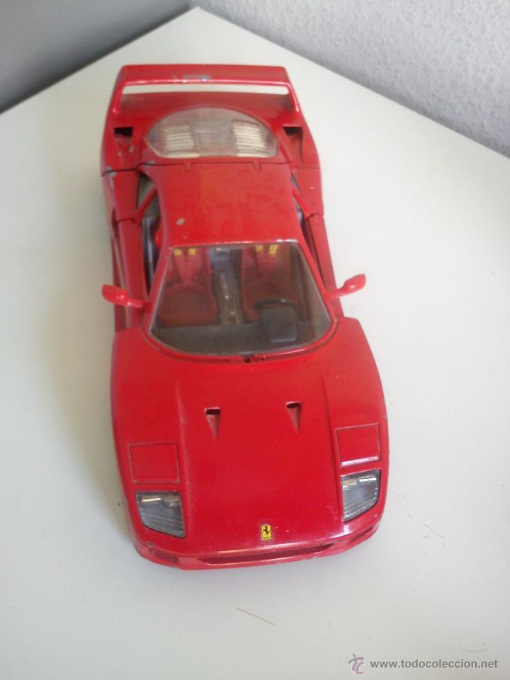 Coches a escala: COCHE FERRARY MARCA BURAGO,F.40 1987 SCALA 1/24 hecho de hierro y la base plastico. MADE IN ITALY - Foto 2 - 43834980