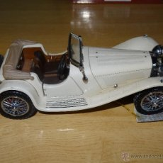 Auto in scala: JAGUAR SS 100 1938 ESCLA 1/24 METALICO DE FRANKLIN MINT. Lote 44625058