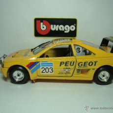 Coches a escala: PEUGEOT 405 TURBO 16 RAID DE BURAGO BBURAGO ESCALA 1,24. AÑOS 90. Lote 29960518