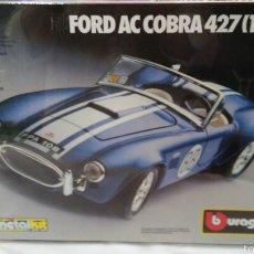 Coches a escala: COCHE FORD AC COBRA 427 (1965).KIT MONTAJE ESC.1:24.BURAGO ITALIA BBURAGO.NUEVO Y PRECINTADO.. Lote 145537142