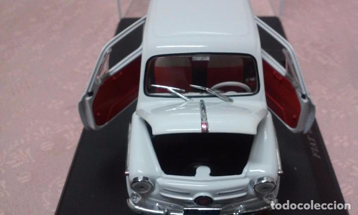 Coches a escala: COCHE FIAT 600 D 1960 ESCALA 1/24-1:24 LEO MODELS FIAT METAL MODEL CAR - Foto 10 - 175402644