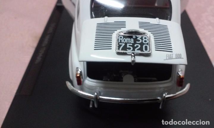 Coches a escala: COCHE FIAT 600 D 1960 ESCALA 1/24-1:24 LEO MODELS FIAT METAL MODEL CAR - Foto 12 - 175402644