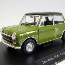Coches a escala: LEO MODELS 1/24 INOCENTI MINI COOPER MK3 1300 DE 1972, EN SU VITRINA ORIGINAL. Lote 73612595