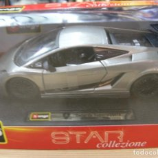 Coches a escala: LAMBORGHINI GALLARDO SUPERLEGGERA BURAGO STAR COLLEZIONE. Lote 74563019