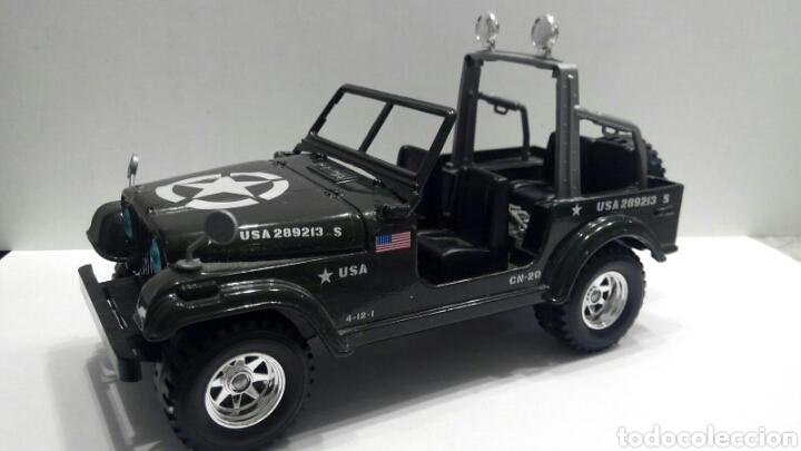 coche burago escala 1:24 jeep wrangler militar - verkauft durch