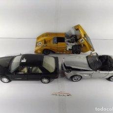 Coches a escala: LOTE DE 3 COCHES GUILOY POLITOYS MOTOR MAX ESCALA 1:24 CON DEFECTOS. Lote 100742099