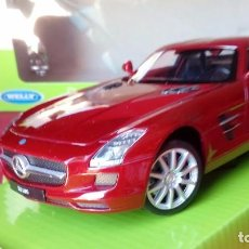 Coches a escala: WELLY - MERCEDES BENZ - SLS COUPE 6.3 AMG 2010 ROJO. Lote 171376932