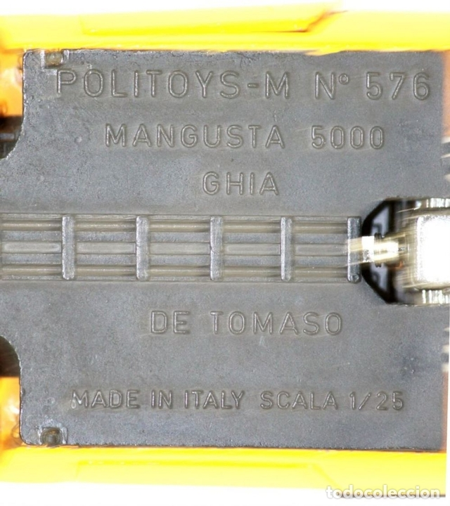 Coches a escala: COCHE MANGUSTA 5000 GHIA EN METAL. POLITOYS M. REFERENCIA 576. ESCALA 1/25. - Foto 8 - 54664134