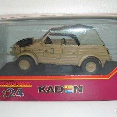 Coches a escala: KUBELWAGEN VW 82 TROPIC MILITAR KADEN GONIO METALICO ESCALA 1/24. Lote 113165651