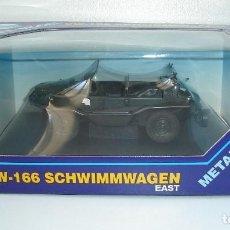 Coches a escala: SCHWIMMWAGEN VW 166 ANFIBIO MILITAR GONIO METALICO ESCALA 1/24. Lote 113165811