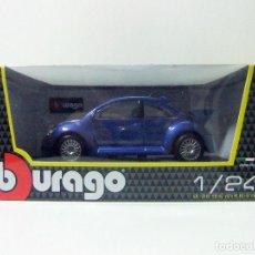 Coches a escala: VW NEW BEETLE RSI VOLKSWAGEN ESCARABAJO - BBURAGO BURAGO ESCALA 1:24 - COCHE AUTOMÓVIL MINIATURA. Lote 115718279