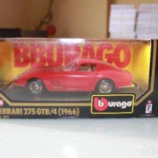 Coches a escala: BURAGO FERRARI 275 GTB/4 (1966) ROJO 1:24 EN EMBALAJE ORIGINAL (VER FOTOS PARA ESTADO). Lote 119471383
