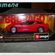 Coches a escala: BURAGO CHEVROLET CORVETTE 1997 VER FOTOS PARA ESTADO. Lote 141836598