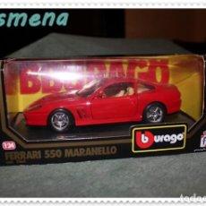 Coches a escala: BURAGO FERRARI 550 MARANELLO (1996) VER FOTOS PARA ESTADO. Lote 141838154