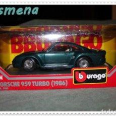 Coches a escala: BURAGO PORSCHE 959 TURBO (1986) VER FOTOS PARA ESTADO. Lote 142104366