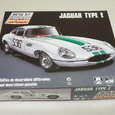 Coches a escala: J- JAGUAR TYPE E CLUB METAL KIT MAJORETTE 1/24 FRANCIA 1990 RARO !!!!. Lote 142429318