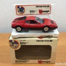 Coches a escala: BURAGO ANTIGUO ESCALA 1:24 FERRARI 512 BB. Lote 142489374