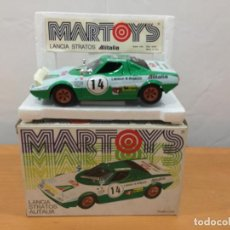Auto in scala: MARTOYS LANCIA STRATOS ALITALIA ESCALA 1:24. Lote 187316593
