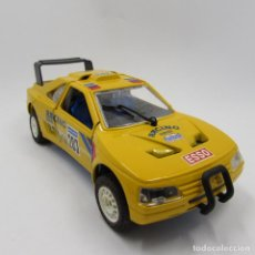Coches a escala: MAJORETTE PEUGEOT 405 TURBO 16 SHELL PIONEER PARIS DAKAR 1989 ESCALA 1/24 (2356). Lote 143934818