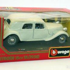 Coches a escala: CITROËN 15CV TA - 1938 - BBURAGO - BURAGO - EN CAJA - NUEVO A ESTRENAR - REF. 1501 - 1/24. Lote 145649802