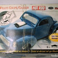 Coches a escala: WILLYS COUPE GASSER 1941- KIT DE MONTAJE METAL .TESTORS. ESCALA 1/24. Lote 147084670