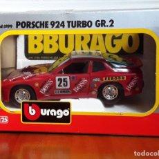Coches a escala: COCHE BURAGO DE METAL ESCALA 1/24.PORSCHE 924 TURBO GR.2. Lote 147722758