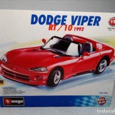 Coches a escala: BURAGO DODGE VIPER RT/10 1992 ESCALA 1/24 (PRÁCTICAMENTE COMO NUEVO) . Lote 149867098