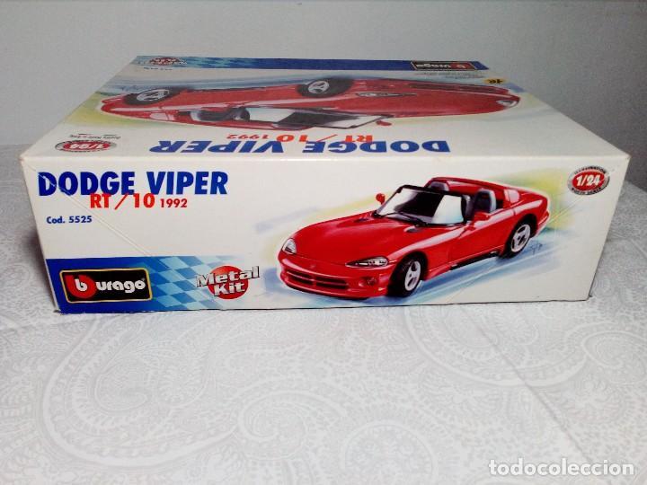 Coches a escala: BURAGO DODGE VIPER RT/10 1992 ESCALA 1/24 (PRÁCTICAMENTE COMO NUEVO) - Foto 4 - 149867098