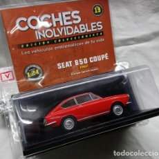 Coches a escala: SEAT 850 COUPÉ EN 1/24 COCHES INOLVIDABLES DE SALVAT. Lote 151487246