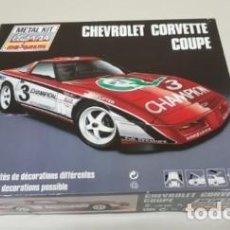 Coches a escala: J- CHEVROLET CORVETTE COUPE CLUB 1/24 METAL KIT MAJORETTE FRANCIA 1990 RARO!!!!. Lote 152403906