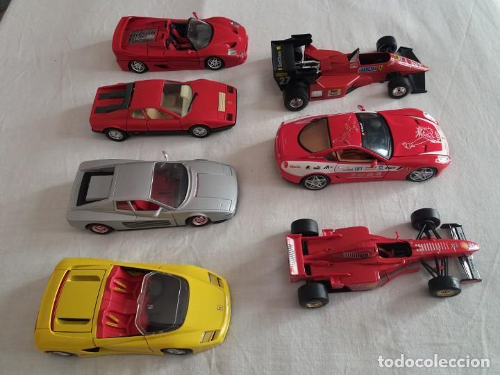 Coches a escala: Lote de 7 Ferraris escala 1/24 . - Foto 2 - 154440290
