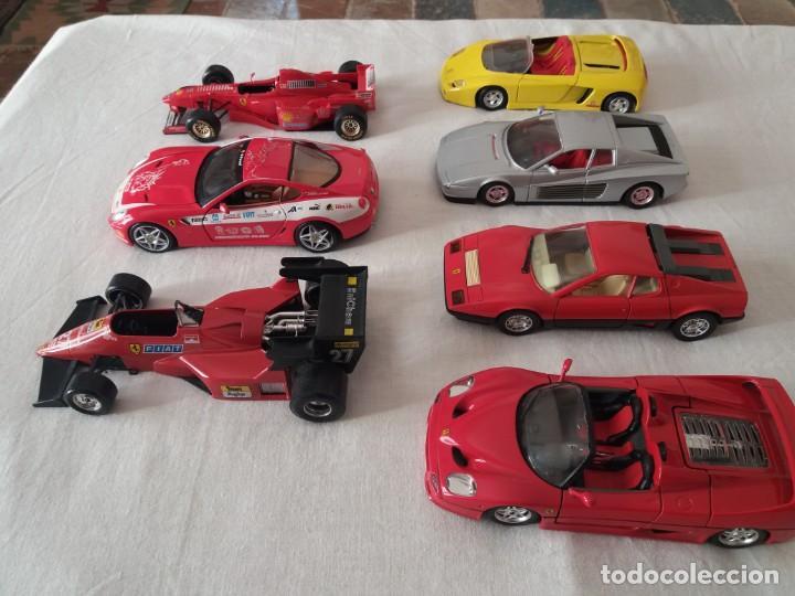 Coches a escala: Lote de 7 Ferraris escala 1/24 . - Foto 4 - 154440290