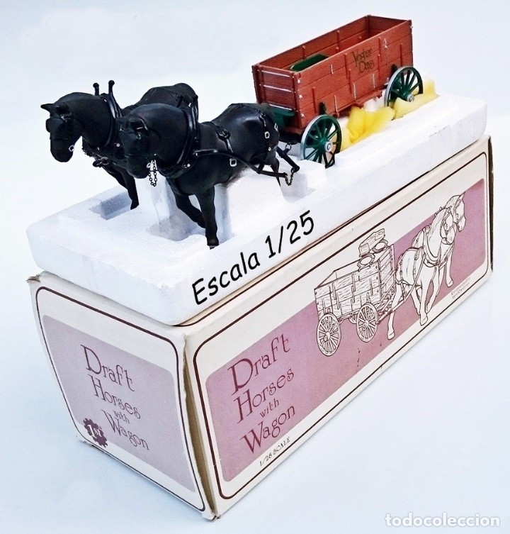 FIRST GEAR YESTER DAYS 39 DRAFT HORSES WITH WAGON (Juguetes - Coches a Escala 1:24)