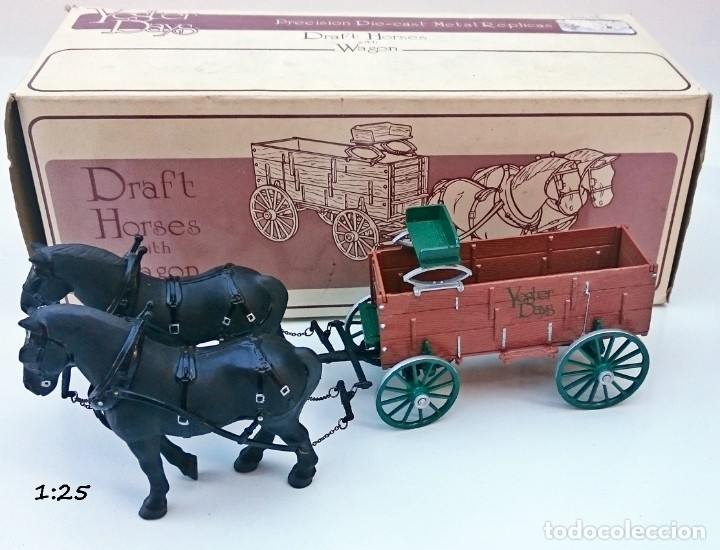 Coches a escala: FIRST GEAR YESTER DAYS 39 DRAFT HORSES WITH WAGON - Foto 2 - 93142445