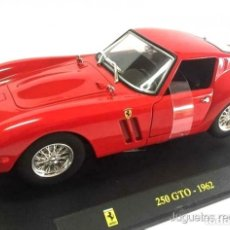 Coches a escala: FERRARI 250 GTO 1962 1:24 BURAGO DIECAST COCHE SUPERCAR. Lote 165914549