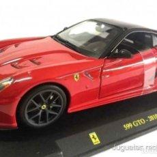 Coches a escala: FERRARI 599 GTO 2010 1:24 BURAGO DIECAST COCHE SUPERCAR. Lote 165914553
