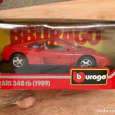 Coches a escala: BBURAGO - FERRARI 348 TB (1989) COCHE A ESCALA 1/24. Lote 166802241