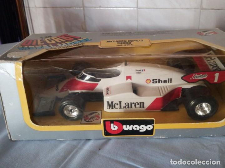 Coches a escala: mclaren mp4/2 turbo burago 1983 - Foto 2 - 166965116