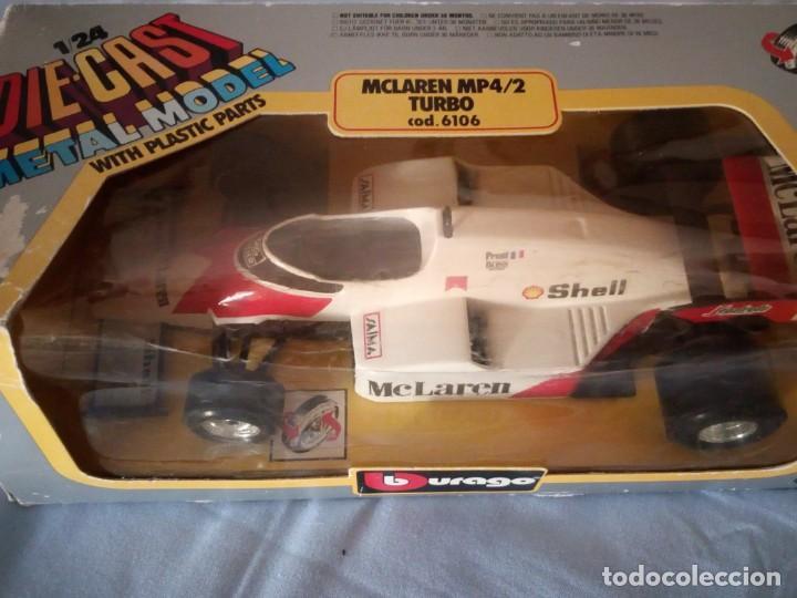 Coches a escala: mclaren mp4/2 turbo burago 1983 - Foto 4 - 166965116