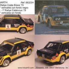 Coches a escala: [CALCA] FIAT 131 ABARTH #1 B. FERNANDEZ WINNER RALLY CATALUNYA 1979 (REF. 062BDECA24) 1:24 KIT CAR 4. Lote 199094085