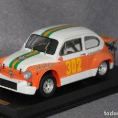 Coches a escala: FIAT 600 ABARTH 850 TCR JAGERMEISTER #302 F. STEFENELLI BOLZANO-MENDOLA 1972 1:24 KC43-FACTORY. Lote 199094551