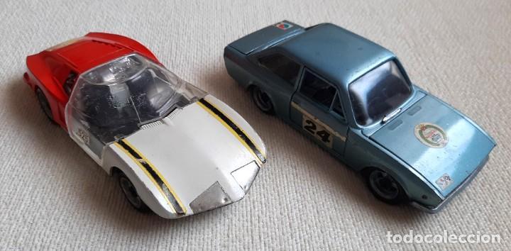 COCHES DE METAL A ESCALA PROTOTIPO MONZA GT Y SEAT 124 SPORT 1600 MARCA NACORAL MADE IN SPAIN ESPAÑA (Juguetes - Coches a Escala 1:24)