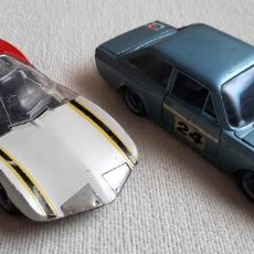 Coches a escala: COCHES DE METAL A ESCALA PROTOTIPO MONZA GT Y SEAT 124 SPORT 1600 MARCA NACORAL MADE IN SPAIN ESPAÑA. Lote 206116627