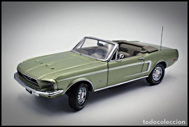 FORD MUSTANG CONVERTIBLE 1968. FRANKLIN MINT. . COLLECTOR CLUB EXCLUSIVE EDITION. SCALE 1/24 (Juguetes - Coches a Escala 1:24)