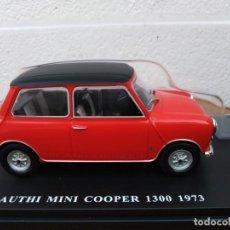 Coches a escala: COCHE MINI COOPER1300 1973 SALVAT 1 24 NUEVO EN SU BLISTER SIN ABRIR. Lote 207034222