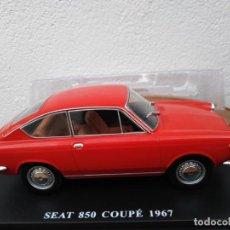 Coches a escala: SEAT 850 COUPÉ 1967 ESCALA 1/24 DE SALVAT NUEVO EN SU BLISTER SIN ABRIR. Lote 207034245
