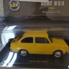 Coches a escala: SEAT 850 1966 1:24 NUEVO CON FASCICULO SIN ABRIR. Lote 218553882